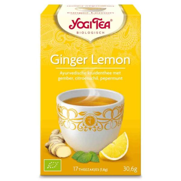 Ginger lemon tea builtjes