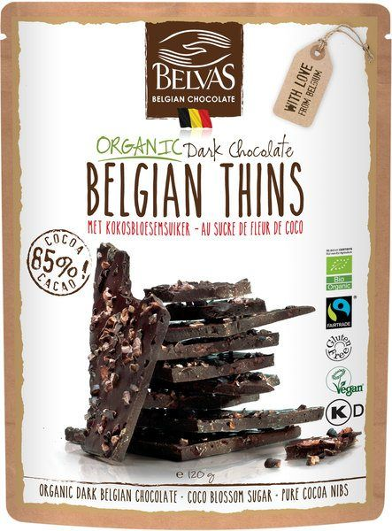 Belgian thins dark chocolate belvas